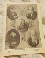The World's Greatest Lexicographers - Antique Book Print