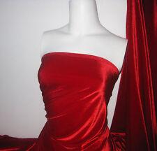 Red Stretch Solid Velvet
