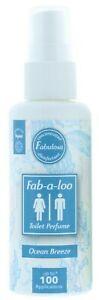 Fabulosa Fab-a-Loo Toilet Water Bathroom Air Freshener Spray 60ml - Ocean Breeze