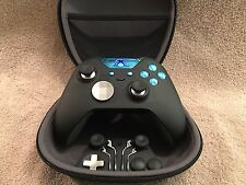 Elite Xbox One 1 Controller - Custom BLUE Led, Buttons, ABXY w/ Letters FREE S&H