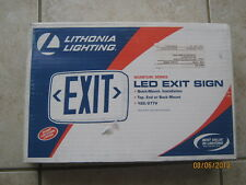 New Lithonia Lighting Led Exit Sign 3Ba31 Red Letters White Housing Quick Mount