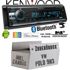 Kenwood Autoradio pour VW Polo 9N3 Bus Can Interface DAB+ Bluetooth CD 2x USB De