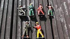 Vintage metal lead figures coyboys indians soldiers britains ?