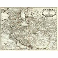 MAP ANTIQUE MIDDLE EAST IRAN PERSIA DE L'ISLE 30X40 CMS FINE ART PRINT ART POSTE