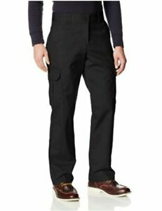 Dickies Men's Regular Straight Stretch Twill Cargo Pant,, Black, Size 40W x 32L