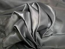 "Bemberg Rayon Lining Fabric Sewing Anti-Static Gray 48"" Wide $14/y BTY Silk Wool"