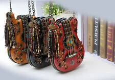 New Beaded Tassel Guitar Jeweled bag Shaped Designer Shoulder bag purse handbag