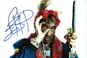 Lee Scratch Perry signed 8x12 inch photo autograph
