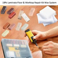 19Pc Laminate Floor & Worktop Repair Kit Wax System Sturdy Case Chips Scratches