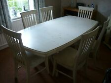 Ducal solid wood extending dining table + 6 chairs