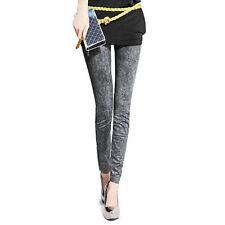 Mujer Delgados Lápiz Pantalones Flacos Alta Cintura Vaqueros Pants Jeggings
