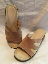 Merrell Womens Sandals Size 7 Sundial Slides Sip On Shoes Beige Suede