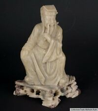 China 20. Jh. Figur - A Chinese Soapstone Figure of Lu Dongbin - Cinese Chinoise