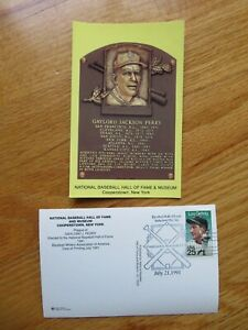 GAYLORD PERRY Induction HALL OF FAME Plaque July 21 1991 CANCELED Stamp GIANTS