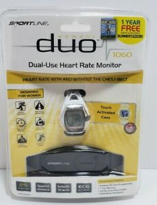 Sportline Duo 1060 Womens Trainer Watch Dual Heart Rate Monitor Water Resistant