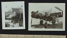 > 2 Orig Photos Nose Art Korean War Marilyn Monroe 1952 Airplane Bomber noseart