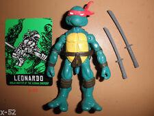 TMNT figure LEO LEONARDO figure COMIC BOOK VERSION + card KATANA BLADES