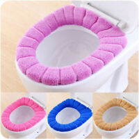 Comfortable Warm Coral Velvet Bathroom Toilet Seat Cover Washable Soft Cushion.