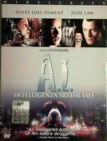 A.I. INTELLIGENZA ARTIFICIALE (2001) di Steven Spielberg DVD EX NOLEGGIO WARNER