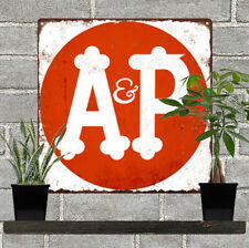 A & P Grocery Store Metal Sign Advertising Repro  12x12