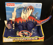 "IMAGINEXT 2006 ""Spear"" Small blue red STYRACOSAURUS Dinosaurs MIP Fisher-Price"