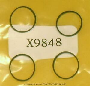 hornby x9848 & mainline class 42 oo spares 1x pack of 4 traction tyres (11mm)