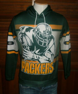 Green Bay Packer All Over Print Hoodie Adult Size S