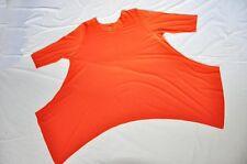 Lagenlook ° raffinato una lunga tunica fine linea°mandarino°5 tgl°58,60 6XL,7XL