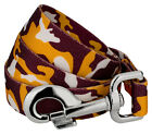 Country Brook Petz® Burgundy and Gold Camo Dog Leash
