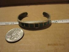 Vtg Southwestern Sterling Silver 9 Stone Turquoise Cuff Bracelet