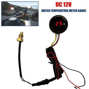 1×Motorcycle Digital Water Temperature Gauge Thermometer Instrument Meter 120 °C