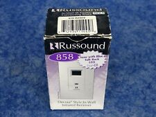 New Russound 858 White Decora Style In-Wall Infrared Receiver / 2 Pack