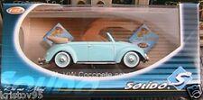 VW VOLKSWAGEN COCCINELLE CABRIOLET 1950 SOLIDO 4571 1/43 NEW BLEU CIEL ROADSTER