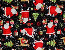 FAT QUARTER CHRISTMAS TREE HOLIDAY SANTA SNOWFLAKE GIFTS DEER 100% COTTON FABRIC