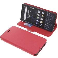 Tasche für Blackberry Key2 Book-Style Schutz Hülle Handytasche Buch Rot
