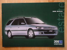PEUGEOT 306 ESTATE RANGE orig 1997 1998 UK Mkt Sales Brochure