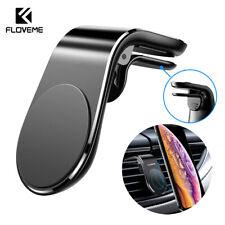 FLOVEME Magnetic Car Phone Holder L Shape Clip Air Vent Mount For Cell Phone GPS