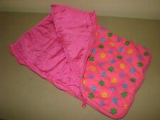 Build a Bear SLEEPING BAG pink floral reversible zip closure