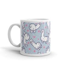 Cute Llama Funny Mug Lama Pink Hearts Animal Girls Cool Gift Coffee Tea #8189