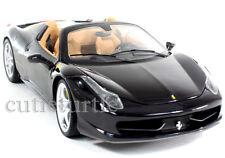 Hot Wheels Elite Ferrari 458 Italia Spider 1:18 Diecast Model Car BCJ90 Black