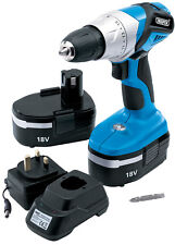 DRAPER 20496 18 VOLT CORDLESS ROTARY DRILL WITH 2 BATTERIES