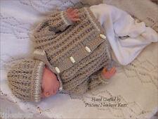 Baby Knitting Pattern TO KNIT 'Frankie' Jacket/Coat & Hat Reborn Dolls