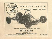 Vintage & Rare 1962 Blitz Kart F-1000 Go-Kart Ad