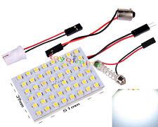 New 48 SMD LED Light Panel Bulb T10 Festoon Dome Bulb BA9S 12V DC Adapter White