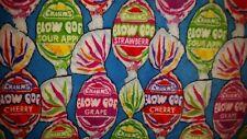 47 x 58 PERSONALIZE 2 LAYER BLOW POP CANDY LOLLIPOPS GUM FLEECE THROW BLANKET