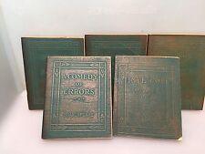 Set 5 Vintage Mini Books - Shakespeare Dante /Walt Whitman, W.B Yates & Plato