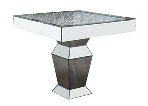 Diamond Crush Topped Square Dining Table