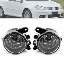 1Pair Front Fog Light Bumper Lamp Kit L&R For VW Golf MK5 06-09 US Version