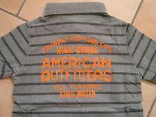 (153) American Outfitters Boys Polo Hemd + Logo Druck auf Brust & Rücken gr.152