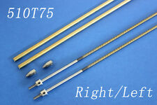 """6.35mm 1/4 X 27"""" 690mm cable shaft drive dog prop nut Left and Right for rc boat"""